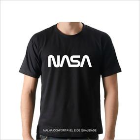 Camiseta Nasa + Adesivo Oficial - Moda Geek Nerd Astronomiaa bc10b04db57