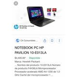 Mini Laptop Hp Pavilion 10-e03la En 3400