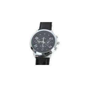 Relógio De Pulso Elegante Quartz Com Dial Metal + Pu Pulseir