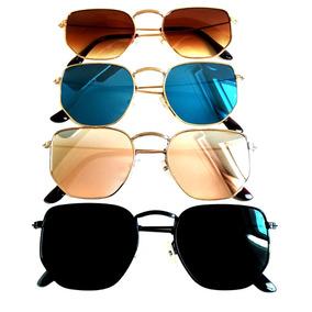 d34124f75794f Óculos De Sol Feminino Hexagonal Verão 2019 Super Promoção