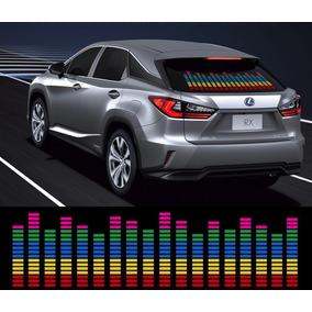 Adesivo Equalizador 12v 90x10cm Painel Led Carro Colorido