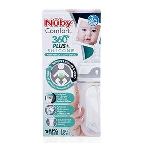Mamadeira De Silicone Anti Colica Refluxo Nuby 250ml -3 Mes