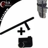 Kit Tonfa + Porta Tonfa Cia Militar Tático Militar Segurança