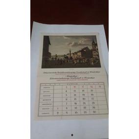Antigo Calendário Alemão Janeiro De 1937