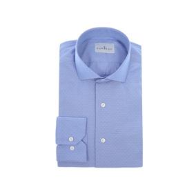 Camisa De Vestir Con Lunares Puroego Corte Slim Fit Azul