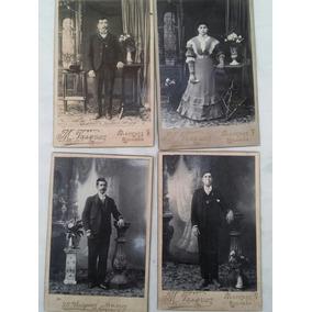 Lote De Antigüedades, 4 Fotos Antiguas Año 1900, Envios