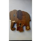 Portallaves De Madera De Pared Elefante