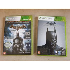 Jogos Batman Xbox 360 Arkhan Aslylum E Origins Ótimo Estado