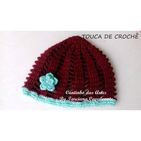 Kit Com 2 Toucas De Crochê Feminina- Adulto 9fedb76b6fc