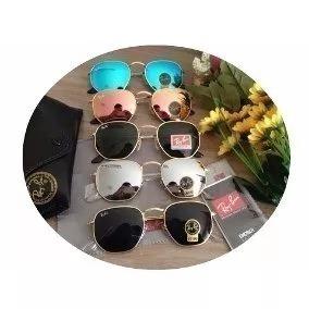 Oculos De Sol Hexagonal Espelhado De Cristal Cores Variadas e987a114ce