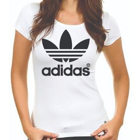 Camiseta Da Adidas Feminina - Camisetas Manga Curta no Mercado Livre ... e18736ef958