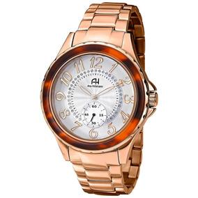Relógio De Pulso Ana Hickmann Feminino Rose Ah28679z Clocke