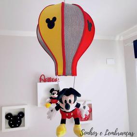 Lustre Acinturado Mickey Balão Decoração Bebê Infantil