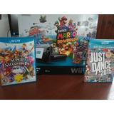 Wii U Con 5 Juegos Embalajes Y Caja