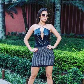 Body Feminino Couro Fake Instagram Atacado Lindo Promoção