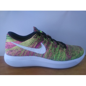 Tenis Nike Lunarepic Low Flyknit Amarillo Rosa Caballero