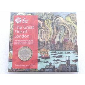 Folder Moeda 2 Libras (pounds) Great Fire London 2016
