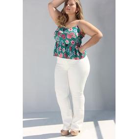 188c6256ef279 Calças Jeans Masculino Cintura alta Branco no Mercado Livre Brasil