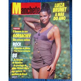 Revista Manchete 1865 Luiza Brunet Myrian Rios Holly Ro 1988