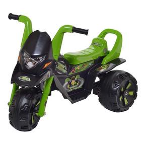 Mini Moto Elétrica Infantil Com Marcha Até 35 Kg - Verde
