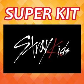 Kpop Kit Stray Kids - 10 Photocards + 1 Poster + 8 Adesivos