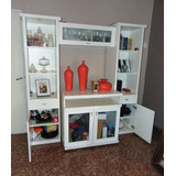 Modular De Pino Mueble Living Biblioteca