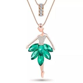 Collar Bailarina Ballet Envio Gratis Dije Cristal Azul Dhl