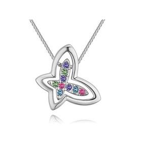 Dije De Mariposas Con Cristales, Ocean Heart, Oh18