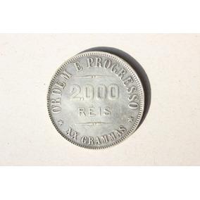 Moeda De 2.000 Réis De 1912 Em Prata