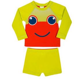 Conjunto Camisa E Sunga Tip Top Proteção Solar Bebê Infantil 07f59933269