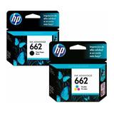 Pack Original Tinta Hp 662 Negro + Tinta Hp 662 Color