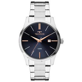 Relógio Masculino Technos Steel 2115mpm/1k 42mm Aço Prata