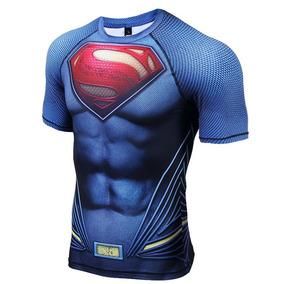Camisa Compressão Superman 3d Pronta Entrega
