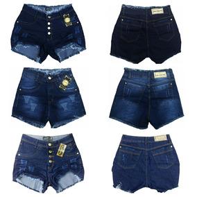Roupas Femininas Kit 03 Shorts Jeans Plus Size Lycra 36ao58