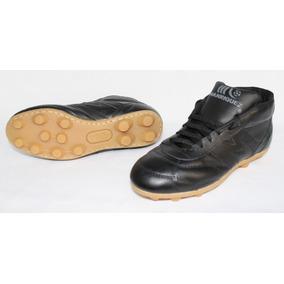 2393-zapato De Futbol Manriquez Negro Botin Vintage Tx c10164ef0e14d