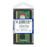 Memória RAM 8 GB 1x8GB Kingston KVR24S17S8/8