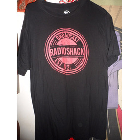 Playera Radioshack Broadcast Black Negra Fashion T Shirt