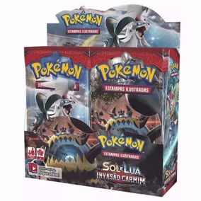 Pokemon Sol E Lua Invasão Carmim Copag Box 36 Boosters