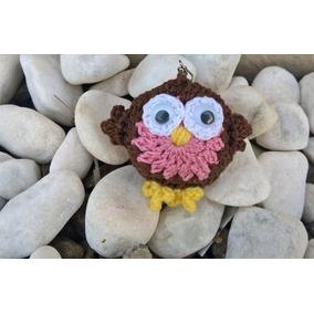 Chaveiros Corujinha Feitos De Croche Com A Técnica Amigurumi
