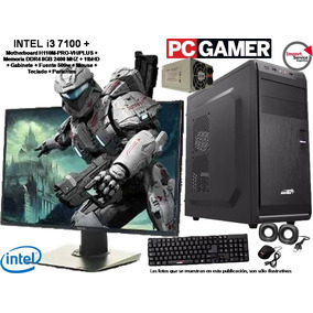 Pc Armada Gamer Intel I3 7100 +h110m +ddr4 8gb +1t +gabinete