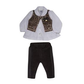 6f4d2b910 Conjunto Bebe Fashion Chic Calca Camisa Colete Sonho Magico