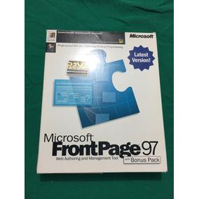 Antigo Software Frontpage 97 (p/ Colecionadores Informatica)