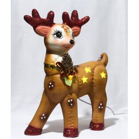 Regalo Navidad Decoración Navideña Reno Grande Lampara