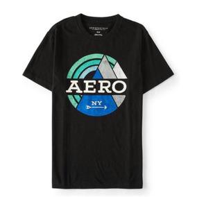 Camiseta Aeropostale Masculina Bordada Preta 100% Original