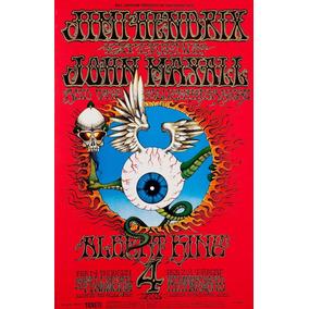Poster Jimi Hendrix Psych Psicodelico Oficial Importado Novo