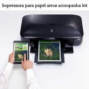 Impressora Canon Para Papel Arroz 50uni A3 A4 + Kit 400ml
