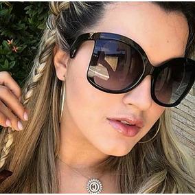 5da93db265c1d Óculos De Luxo Feminino Tendencia Modelo Novo Praia Verão