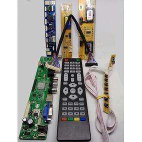 Placa De Tv Lcd Led Universal Controladora V56 Kit Completo