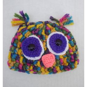 Gorro Crochet Para Bebe New Born Buho