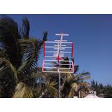 Antena Aérea De Aluminio 16 Elementos Hd. Más Cable Coaxial
